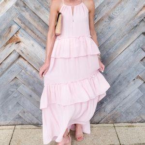 adcfda41656f LOFT Dresses | Blush Pink Tiered Halter Maxi Dress | Poshmark